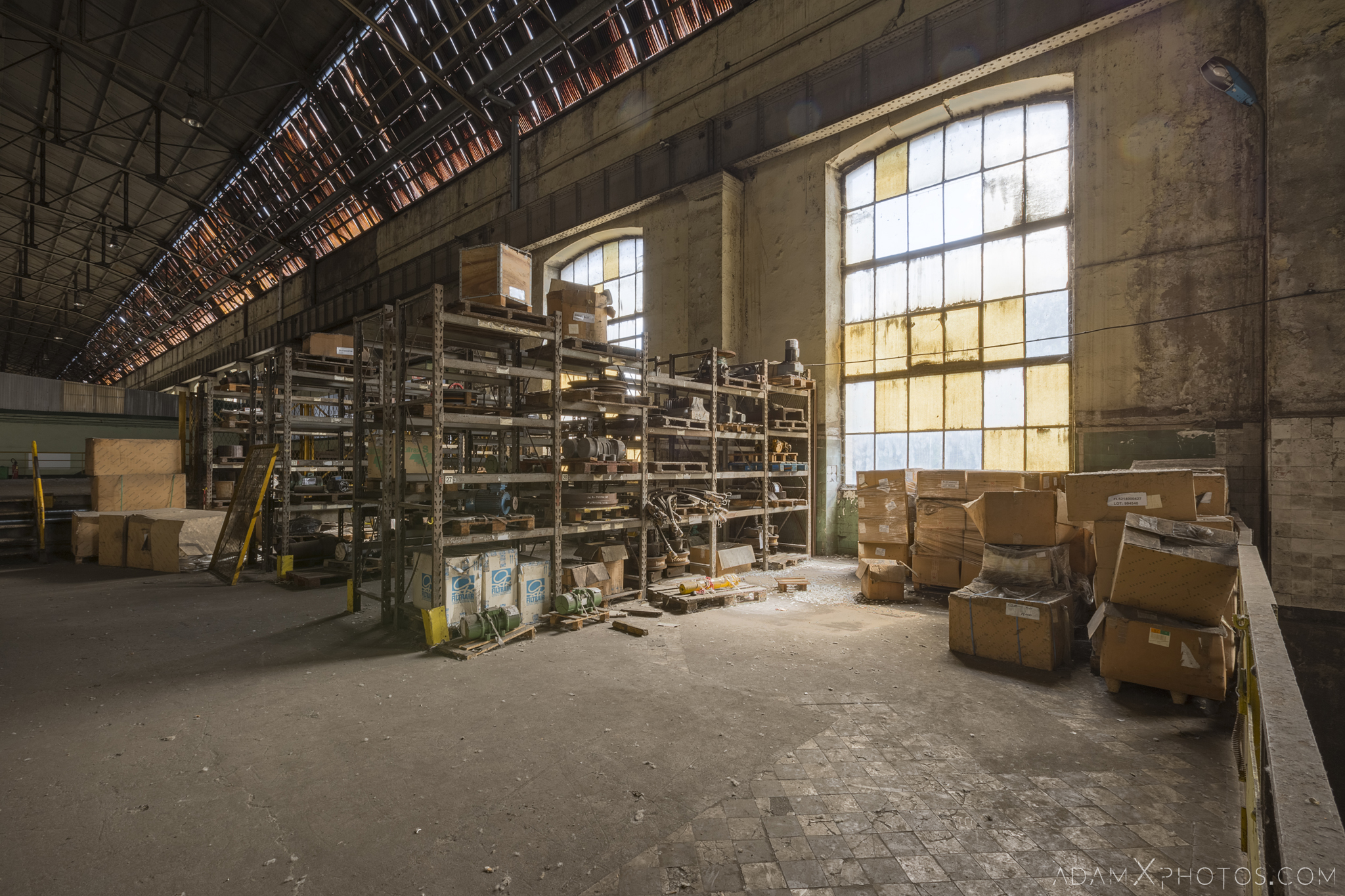 spare parts storage Turbo blower house warehouse store rooms bottom of blast furnace P3 HFX Florange Hayange ArcelorMittal blast furnaces steel works plant Industrial Industry Adam X Urbex Urban Exploration France Access 2017 Abandoned decay lost forgotten derelict location creepy haunting eerie