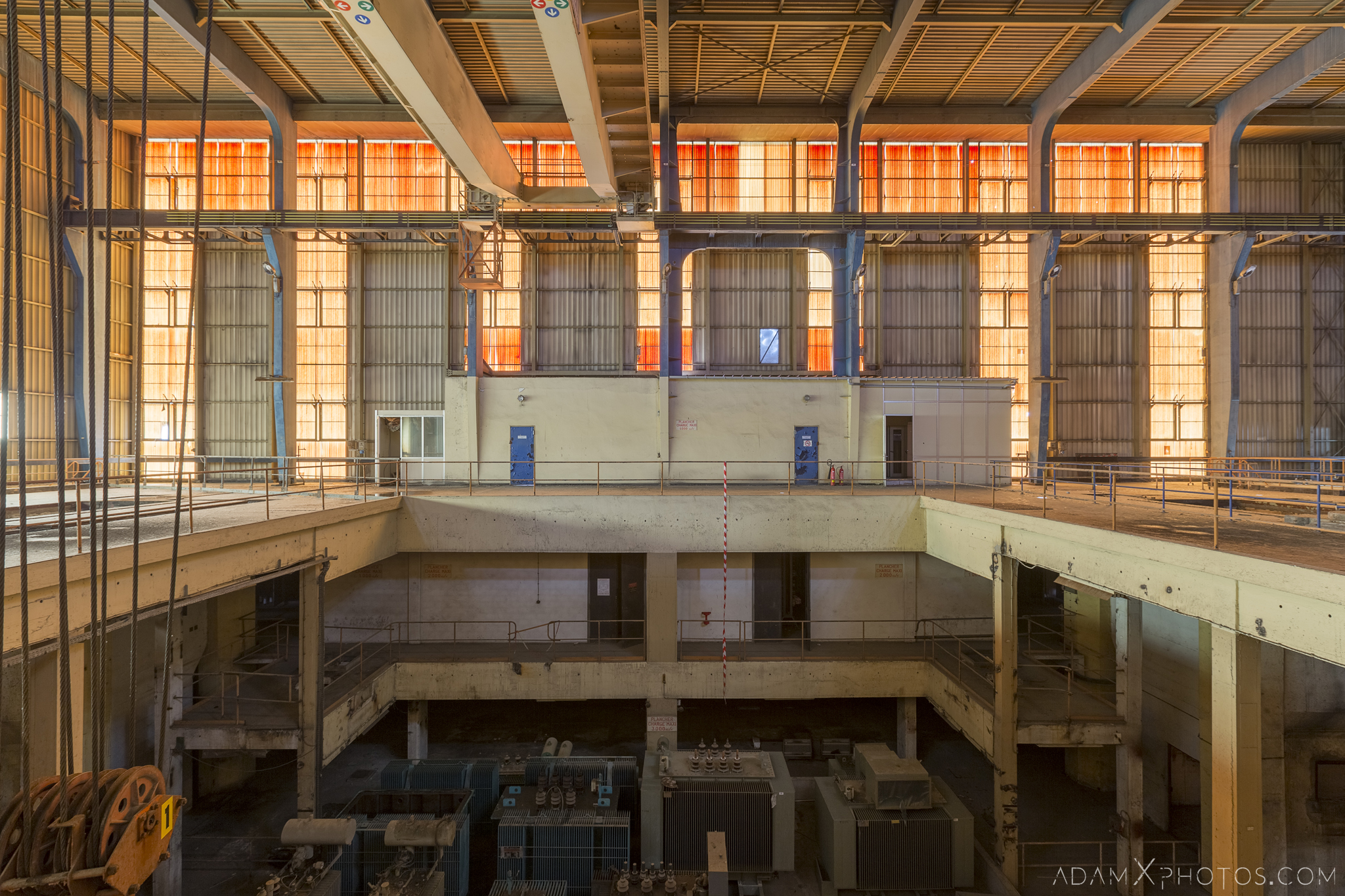 Main turbine hall lady in red control room power plant Industry Industrial Adam X Urbex Urban Exploration Belgium Access 2017 Abandoned decay lost forgotten derelict location creepy haunting eerie