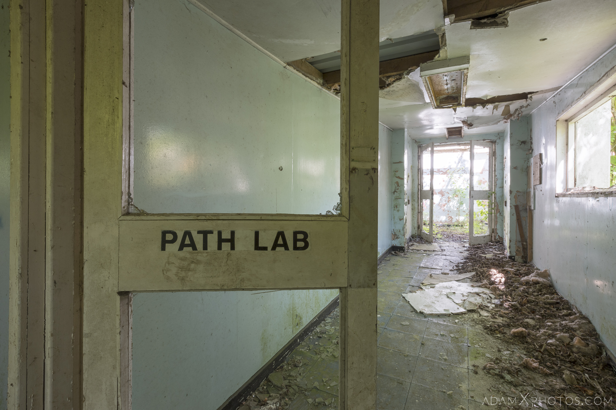Path Lab pathology sign Nocton Hall RAF Hospital Lincolnshire Adam X Urbex Urban Exploration Access 2018 Abandoned decay lost forgotten derelict location creepy haunting eerie