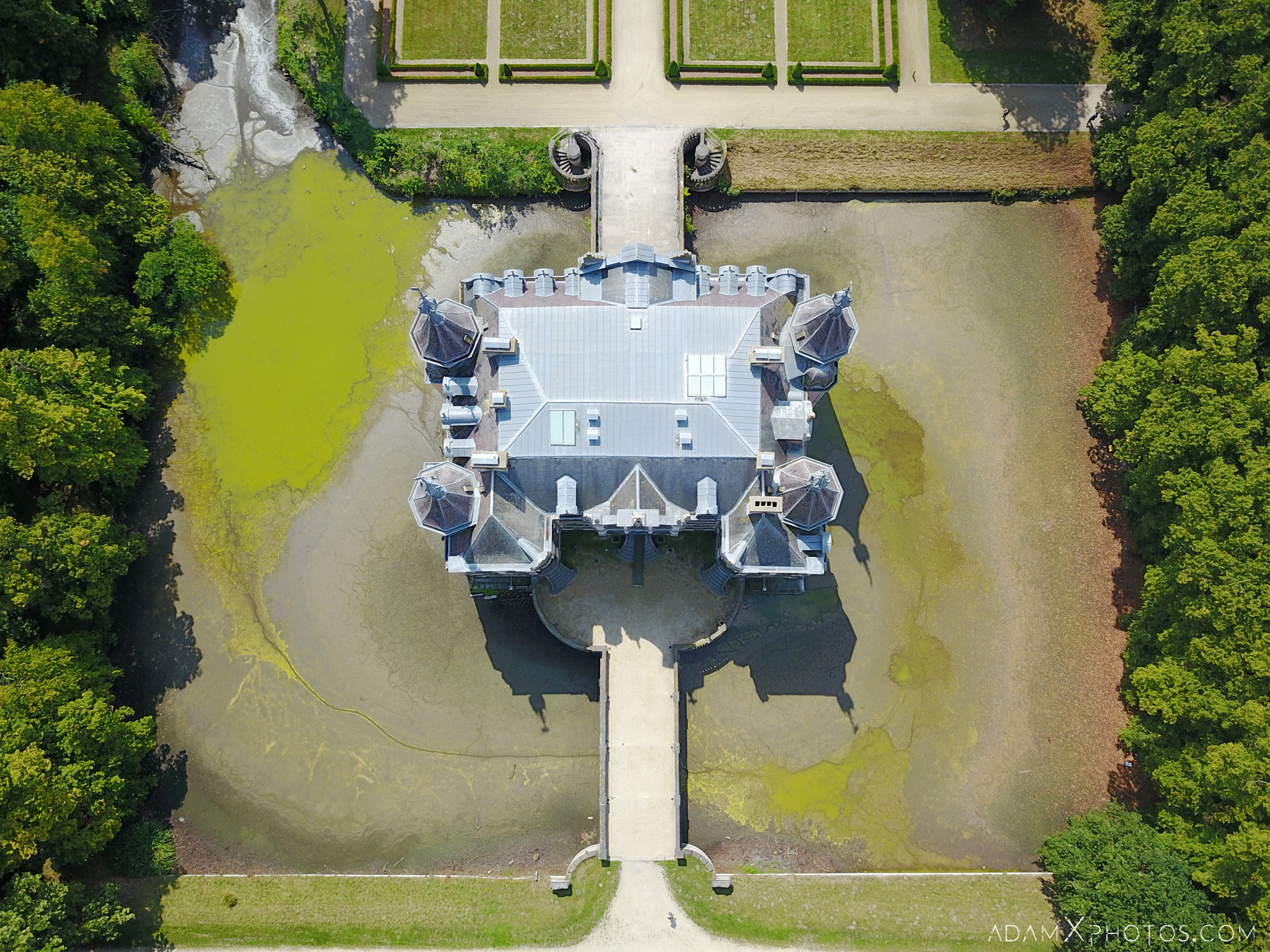 Chateau VP drone from above from the air mavic pro castle Adam X Urbex Urban Exploration Belgium Access 2017 Abandoned decay lost forgotten derelict location creepy haunting eerie
