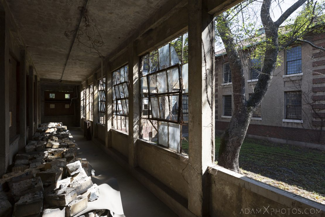Measles ward corridor Ellis Island Immigrant Hospital New York USPHS Hospital #43 Adam X Adamxphotos Urbex Urban Exploration Access 2017 Abandoned decay ruins lost forgotten derelict location creepy haunting eerie