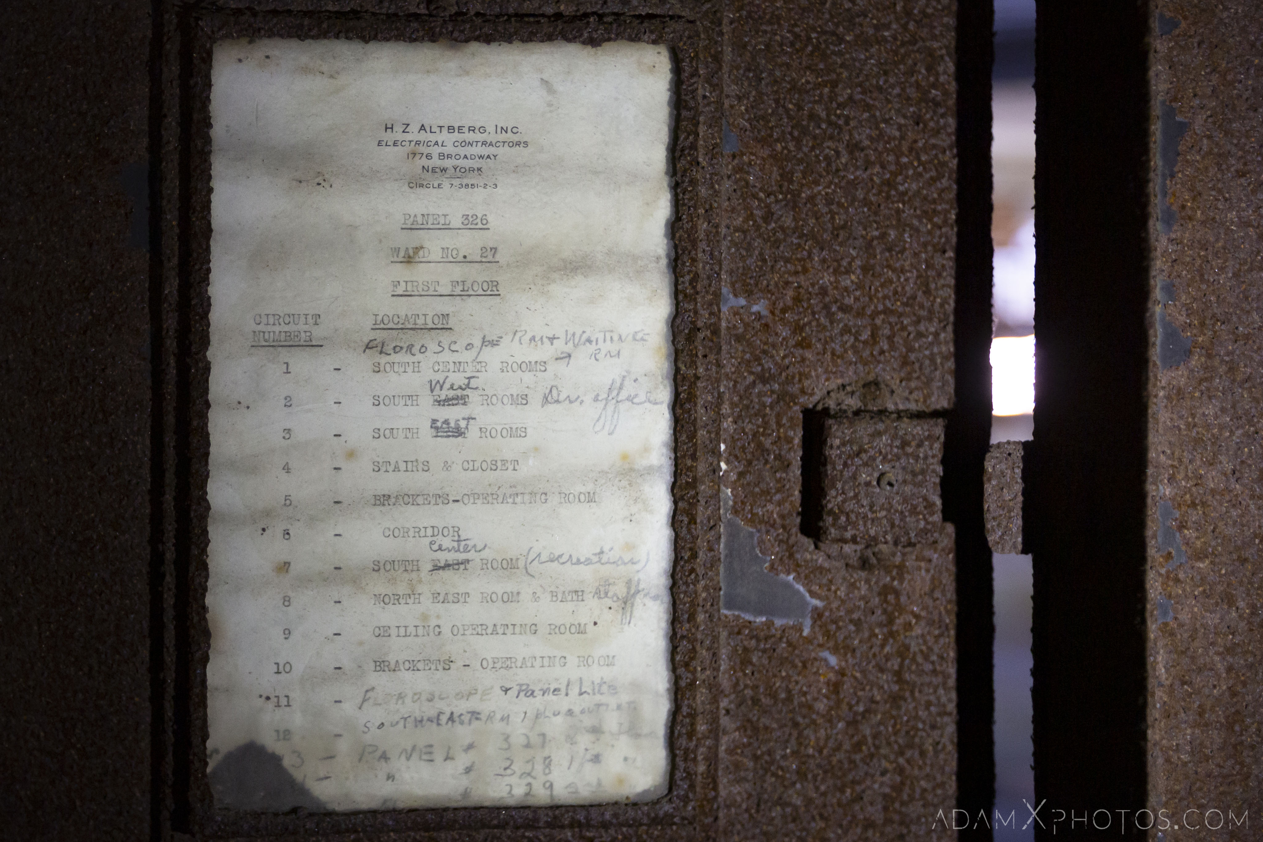 Old ward notice Ellis Island Immigrant Hospital New York USPHS Hospital #43 Adam X Adamxphotos Urbex Urban Exploration Access 2017 Abandoned decay ruins lost forgotten derelict location creepy haunting eerie