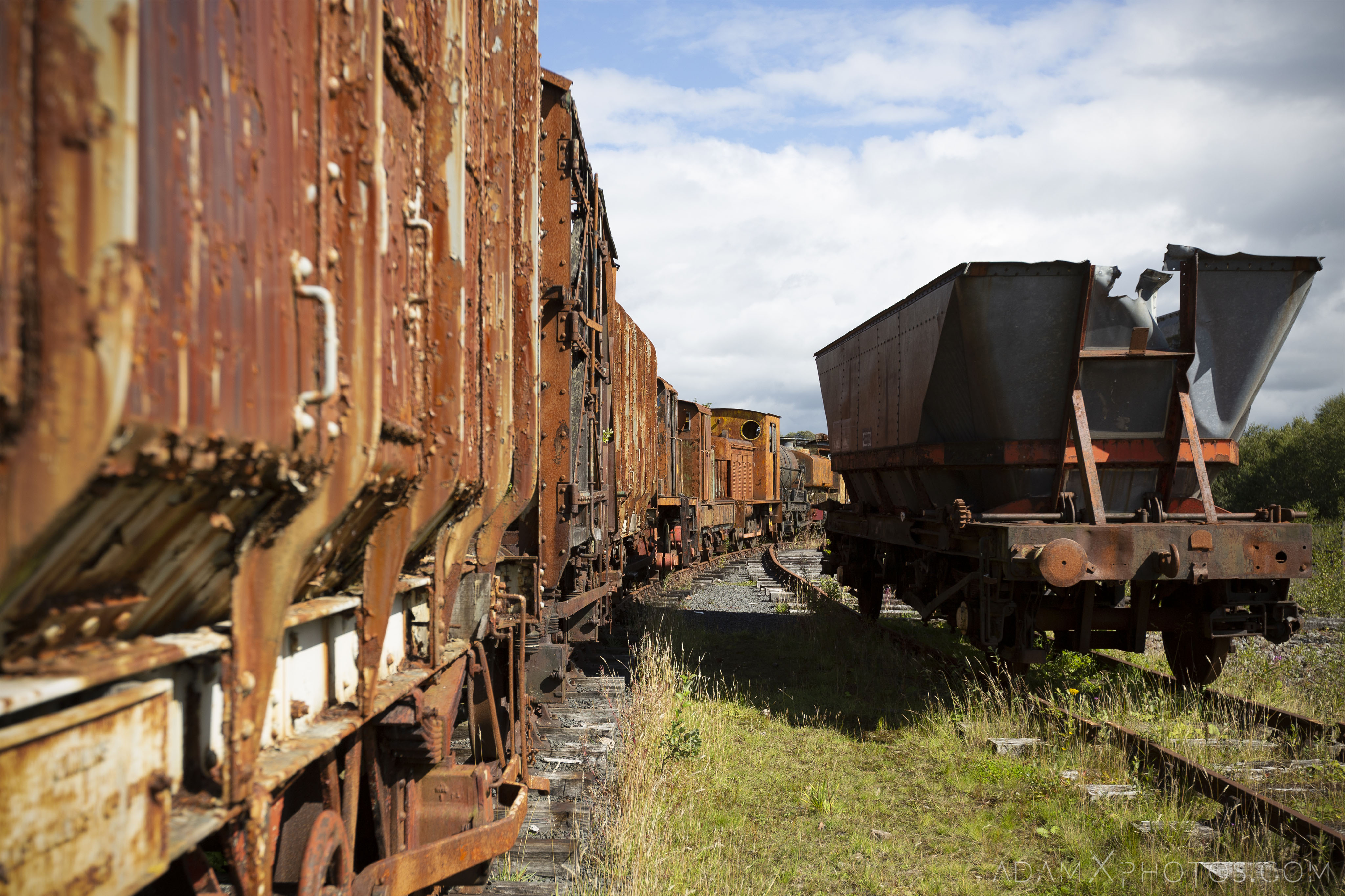 carriages tracks freight Abandoned Trains Waterside Dunaskin Adam X Urbex Urban Exploration Access 2018 Abandoned decay lost forgotten derelict location creepy haunting eerie