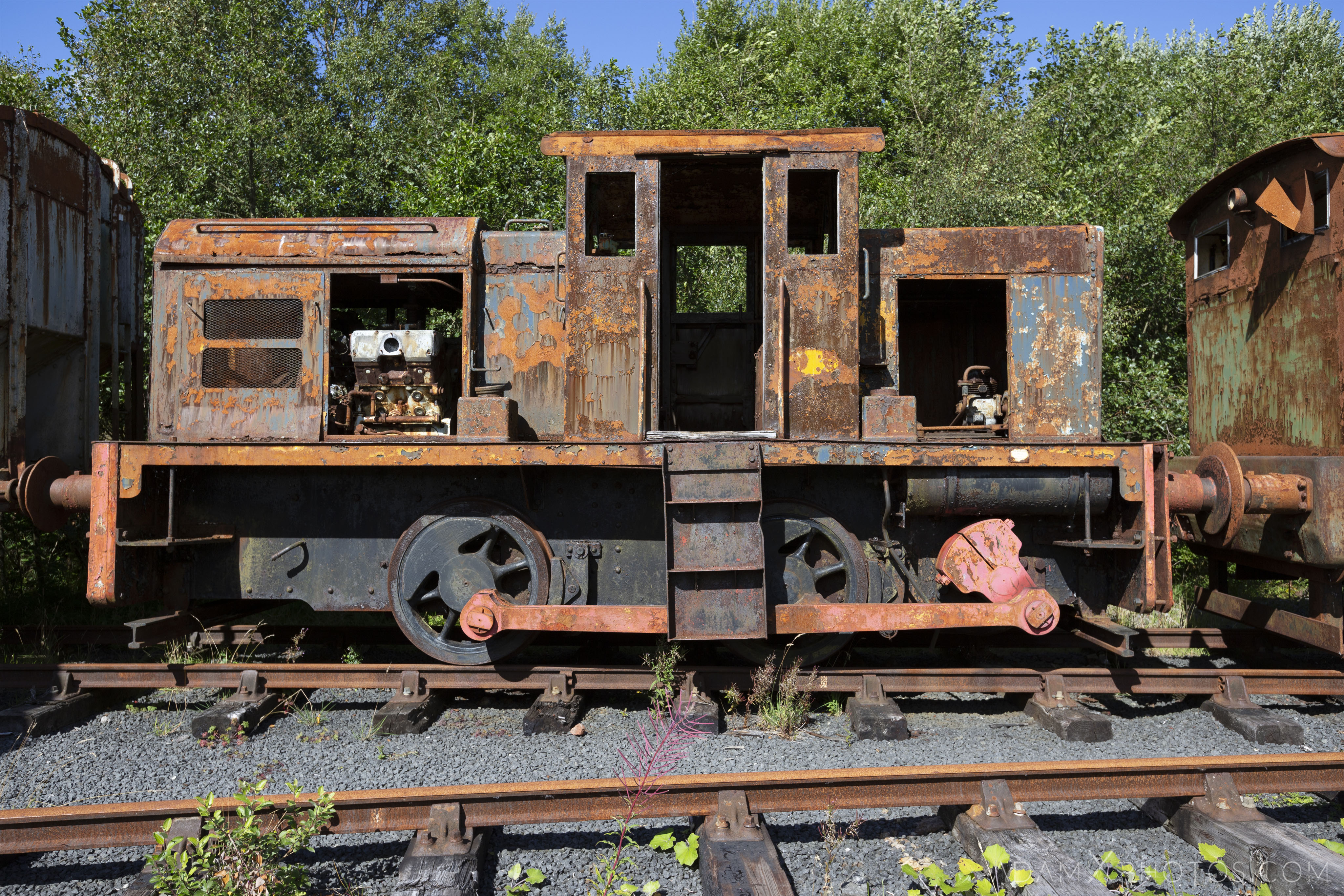 rusting locomotive Abandoned Trains Waterside Dunaskin Adam X Urbex Urban Exploration Access 2018 Abandoned decay lost forgotten derelict location creepy haunting eerie