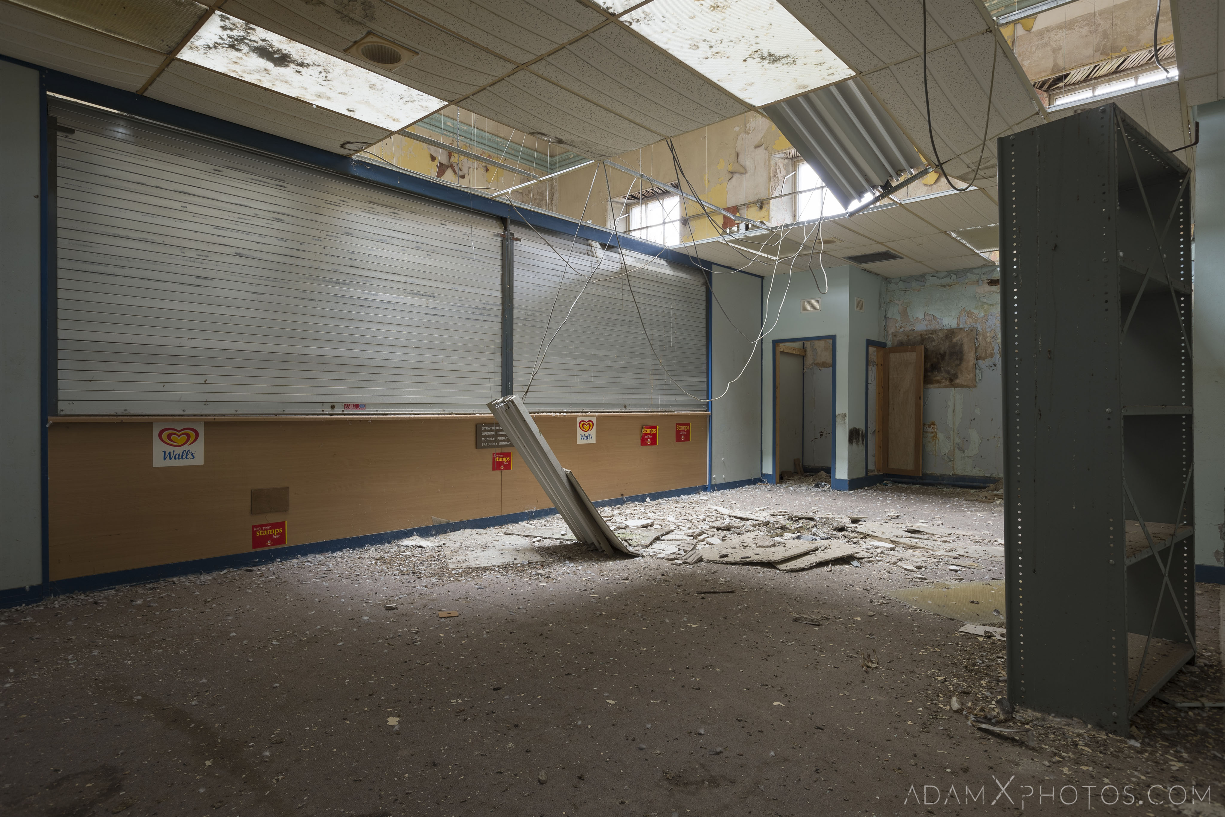 Shop Stratheden Hospital Fife Scotland Adam X Urbex Urban Exploration Access 2018 Abandoned decay ruins lost forgotten derelict location creepy haunting eerie