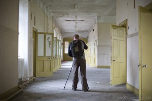 Yellow Corridor Explorer Sunnyside Royal Hospital Montrose Scotland Adam X Urbex Urban Exploration Access 2018 Abandoned decay ruins lost forgotten derelict location creepy haunting eerie