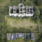 Drone Mavic from above aerial view Dalquharran Castle Ayrshire Scotland Adam X Urbex Urban Exploration Access 2018 Abandoned decay ruins lost forgotten derelict location creepy haunting eerie