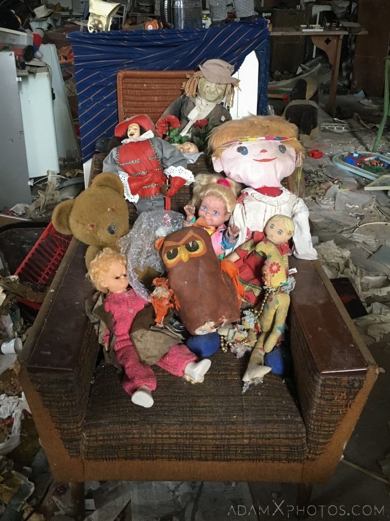 dolls stuffed toys Elvanfoot Parish Church Hoarder Hoarders Church Adam X Urbex Urban Exploration Access 2018 Abandoned decay lost forgotten derelict location creepy haunting eerie