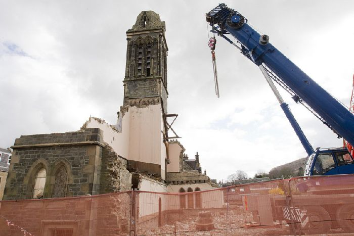 St Aidan's Church Galashiels Scotland demolition