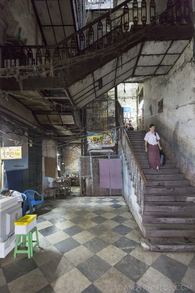 Entrance Balthazar Building Balthazar's Bank Street Colonial Buildings heritage architecture Myanmar Burma Yangon Rangoon Adam X Urbex Urban Exploration Access 2016 decay ruins derelict location creepy haunting eerie