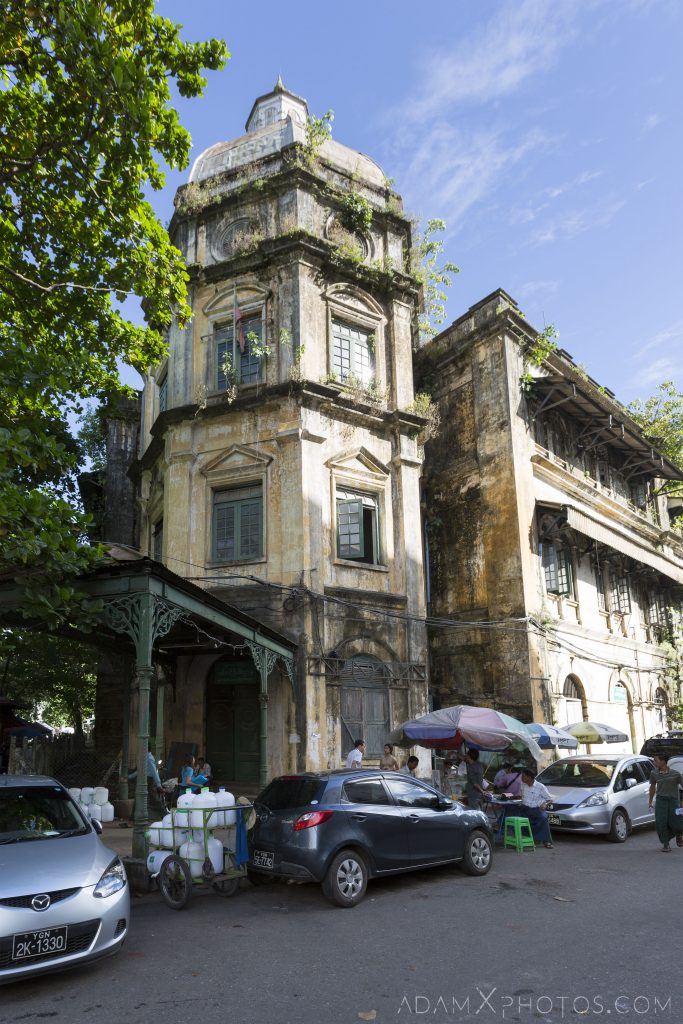 Outside exterior facade Accountant General General's building Customs House Divisional Courthouse Colonial Buildings heritage architecture Myanmar Burma Yangon Rangoon Adam X Urbex Urban Exploration Access 2016 decay ruins derelict location creepy haunting eerie