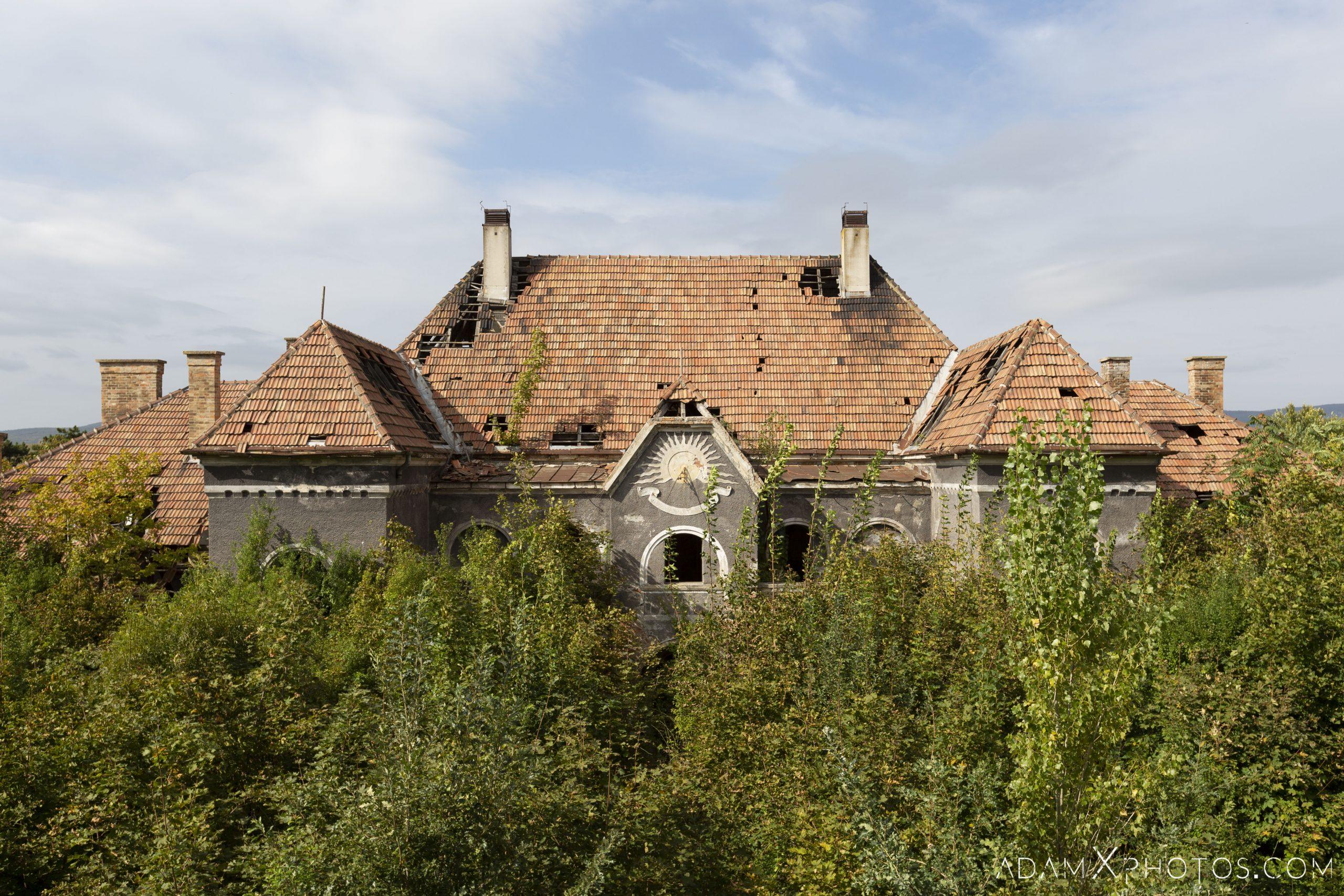 Exterior external Hajmaskér Barracks Hungary Adam X Urbex Urban Exploration Access 2018 Abandoned decay ruins lost forgotten derelict location creepy haunting eerie
