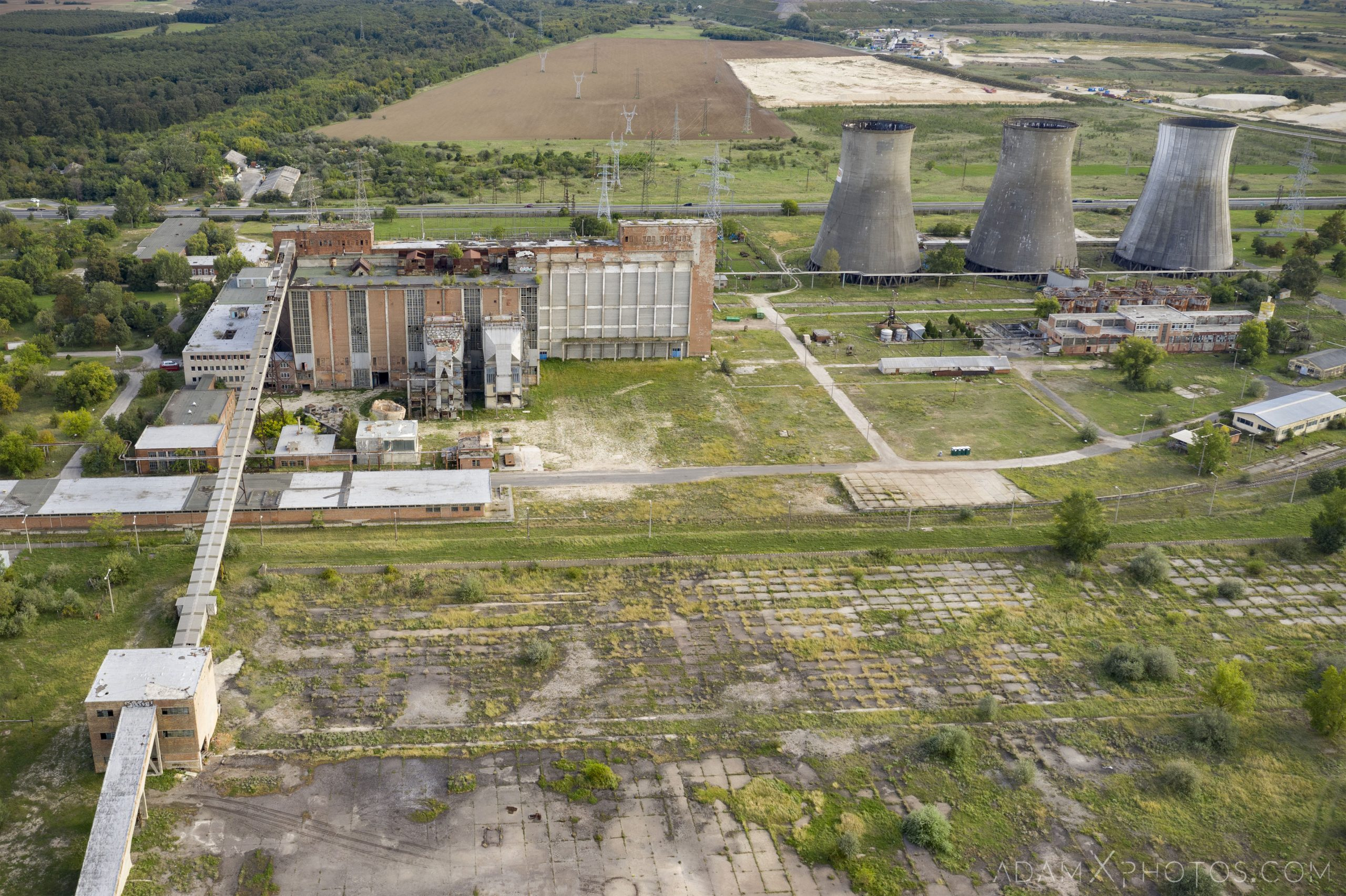 Bladerunner Blade Runner 2049 Powerplant Inota Shephard's Power Plant Hungary Adam X Urbex Urban Exploration Drone aerial view cooling towers Access 2018 Abandoned decay ruins lost forgotten derelict location creepy haunting eerie security