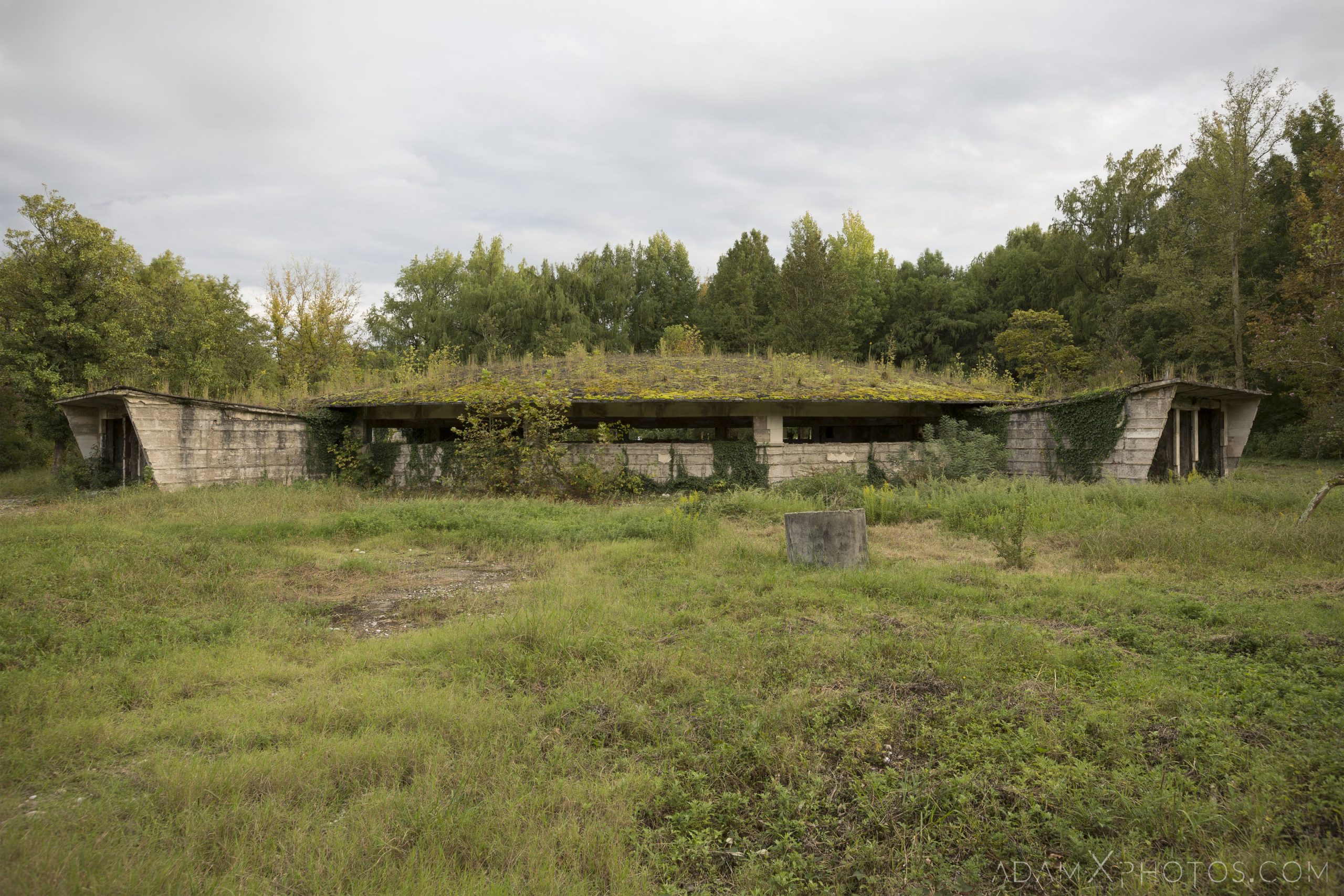 exterior outside overgrown Bath House Number 8 eight no. Tskaltubo Georgia Soviet era Adam X Urbex Urban Exploration 2018 Abandoned Access History decay ruins lost forgotten derelict location creepy haunting eerie security