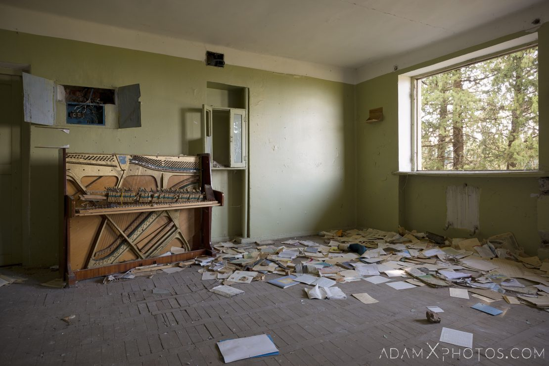 Broken piano classroom Abandoned School rural Soviet era Georgia Adam X AdamXPhotos Urbex Urban Exploration 2018 2019 Abandoned Access History decay ruins lost forgotten derelict location creepy haunting eerie security