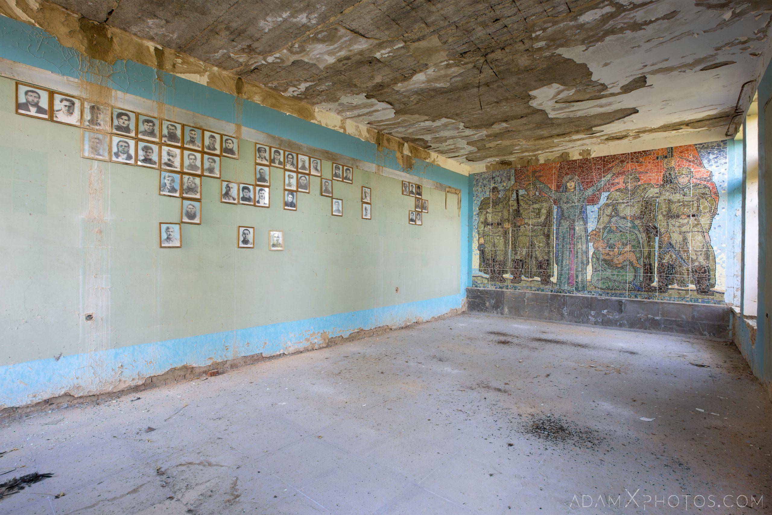 World War ii 2 memorial mural empty abandoned rural Soviet era Georgia Adam X AdamXPhotos Urbex Urban Exploration 2018 2019 Abandoned Access History decay ruins lost forgotten derelict location creepy haunting eerie security