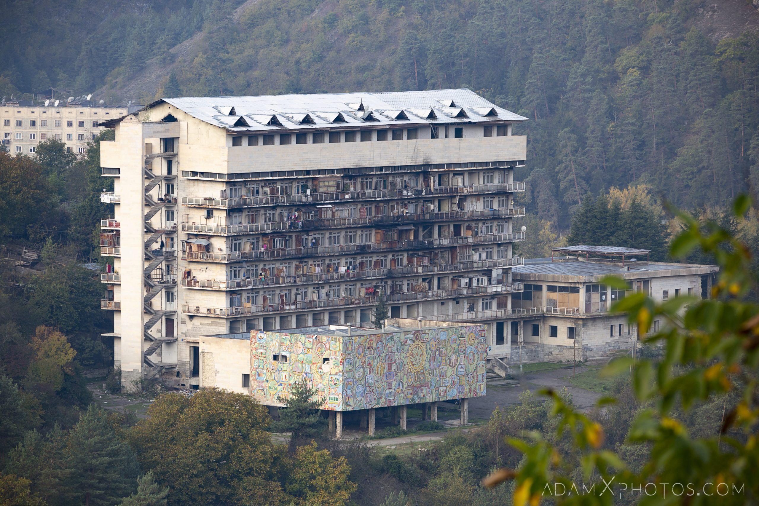Borjomi apartments mural ex soviet era Georgia Adam X AdamXPhotos Urbex Urban Exploration 2018 Abandoned ruins lost forgotten derelict location