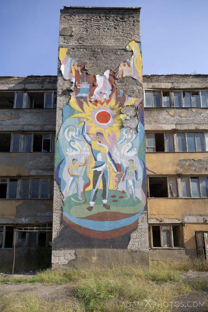 Exterior external mural murals beauty in decay Factory Soviet era Georgia Adam X AdamXPhotos Urbex Urban Exploration 2018 Abandoned Access History decay ruins lost forgotten derelict location creepy haunting eerie security