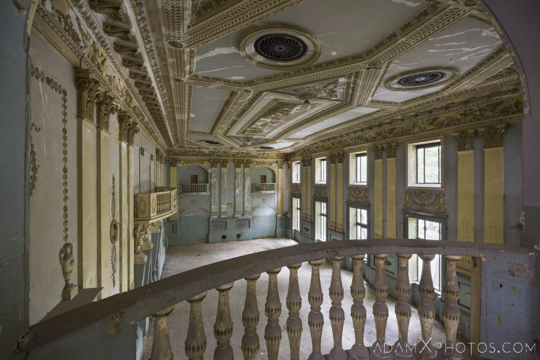 View from the balcony upstairs Theatre Theater Entertainment Hall Tbilisi Georgia Soviet era Adam X AdamXPhotos Urbex Urban Exploration 2018 2019 Abandoned Access History decay ruins lost forgotten derelict location creepy haunting eerie security