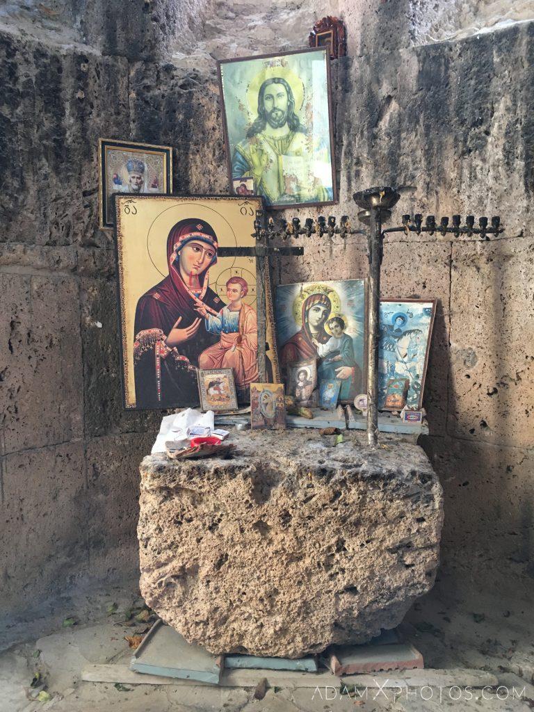 Inside interior Kvetera Church Georgian Orthodox fortress Georgia Adam X AdamXPhotos Urbex Urban Exploration 2018 Abandoned ruins lost forgotten derelict location